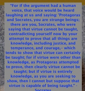 <strong>Protagoras!</strong>(Synopsis – highlights & unredacted quotes lifted from the Socratic dialogue by Plato, Benjamin Jowetttranslation)